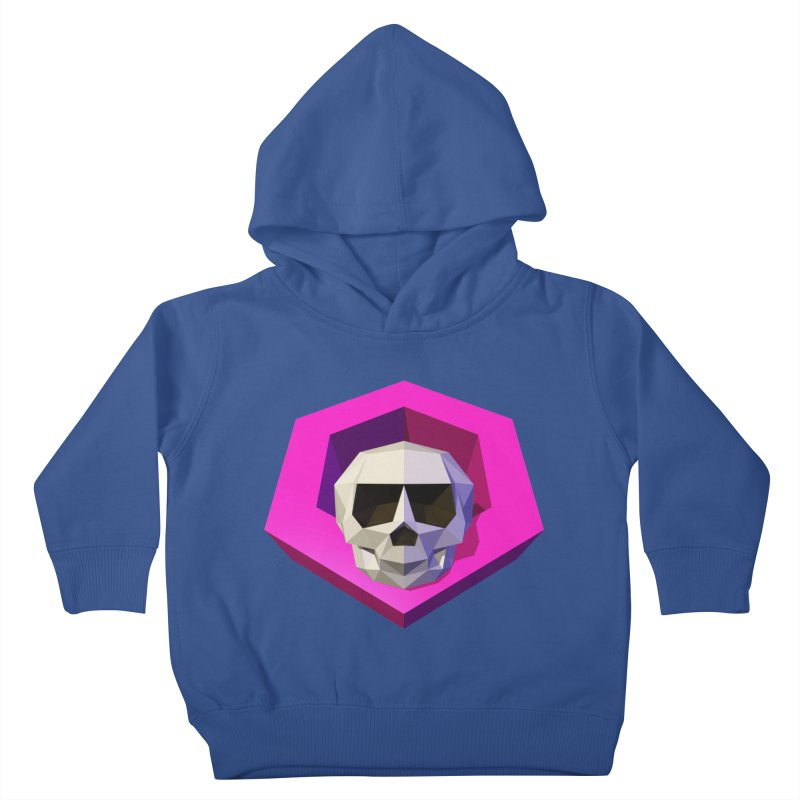 Tiltagon low-poly skull Kids Toddler Pullover Hoody by Kiemura Merchandise