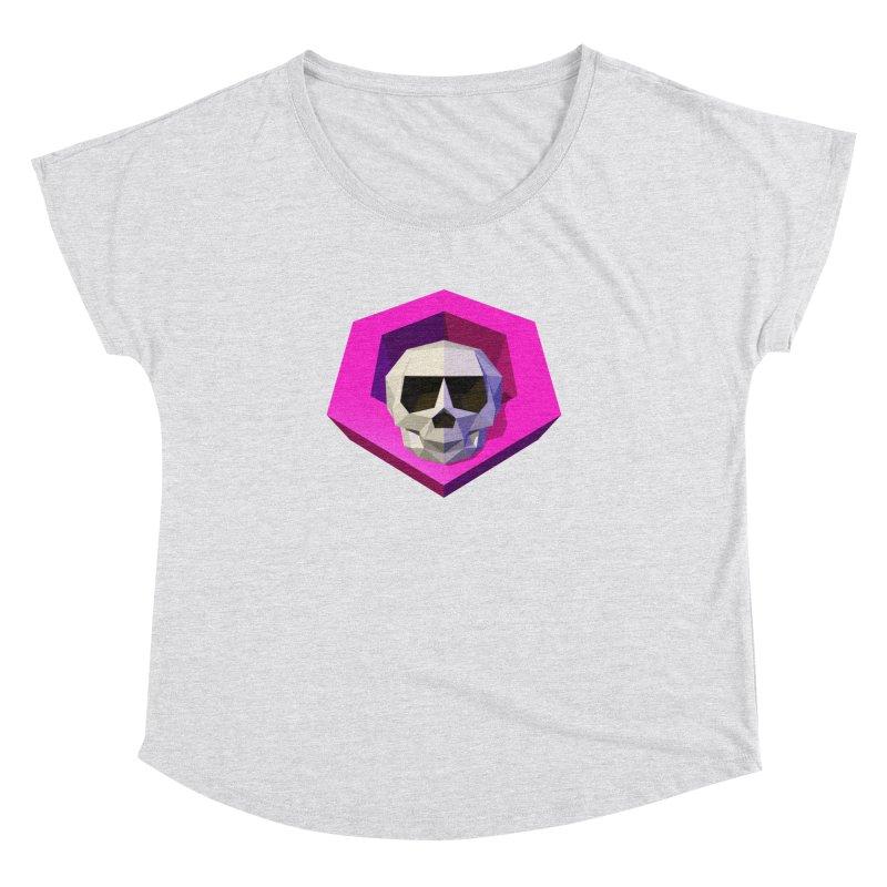 Tiltagon low-poly skull Women's Dolman by Kiemura Merchandise