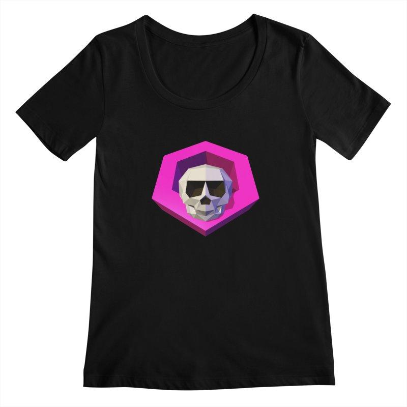 Tiltagon low-poly skull Women's Scoopneck by Kiemura Merchandise