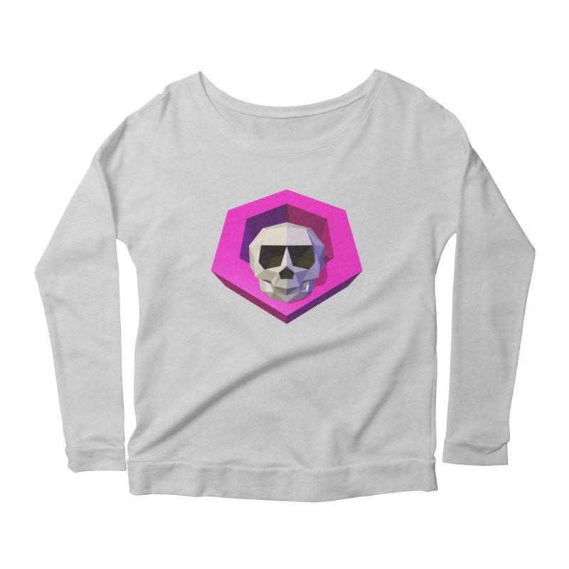 Tiltagon low-poly skull Women's Scoop Neck Longsleeve T-Shirt by Kiemura Merchandise