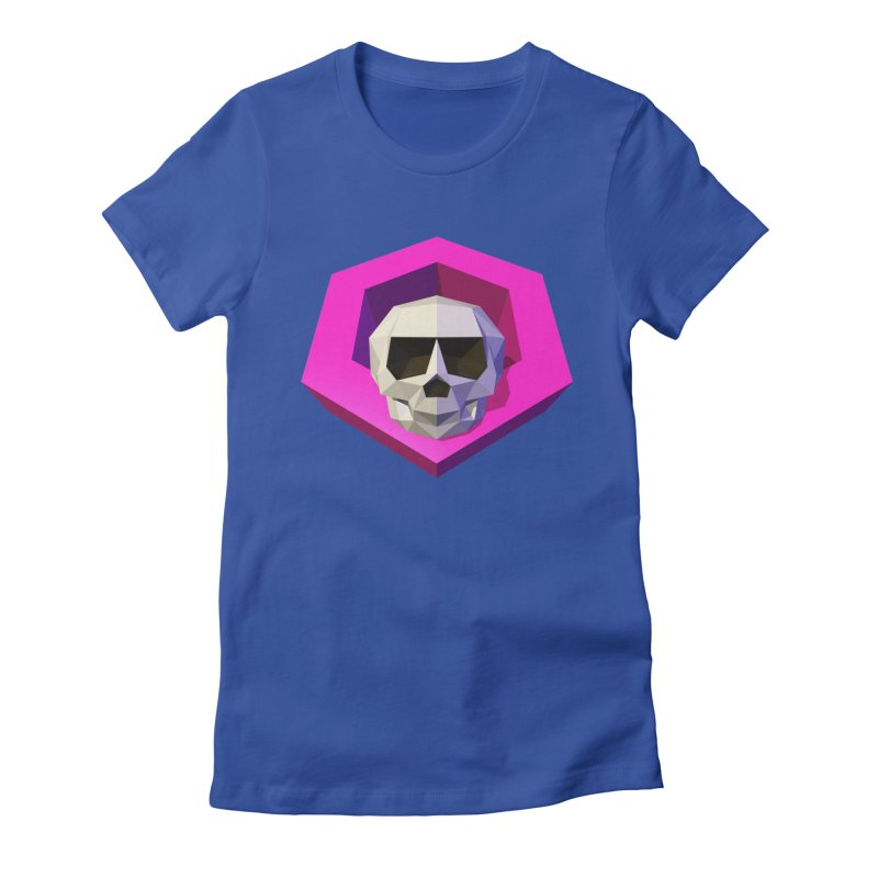 Tiltagon low-poly skull Women's Fitted T-Shirt by Kiemura Merchandise
