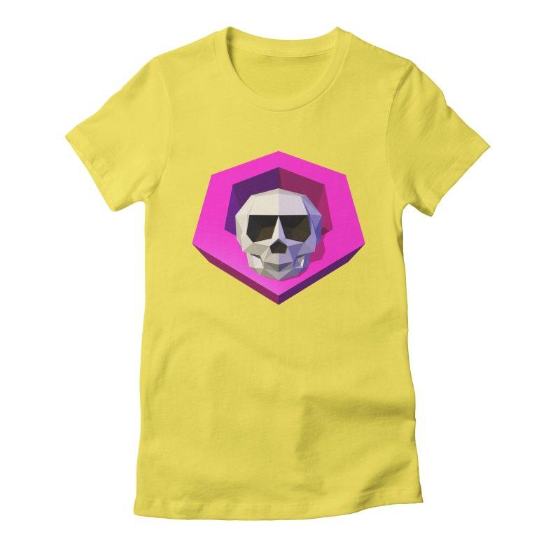 Tiltagon low-poly skull Women's Fitted T-Shirt by Kiemura Merchandise