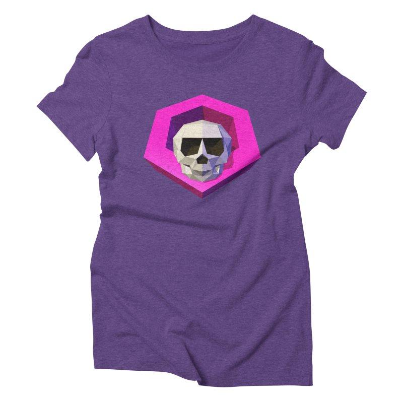 Tiltagon low-poly skull Women's Triblend T-Shirt by Kiemura Merchandise