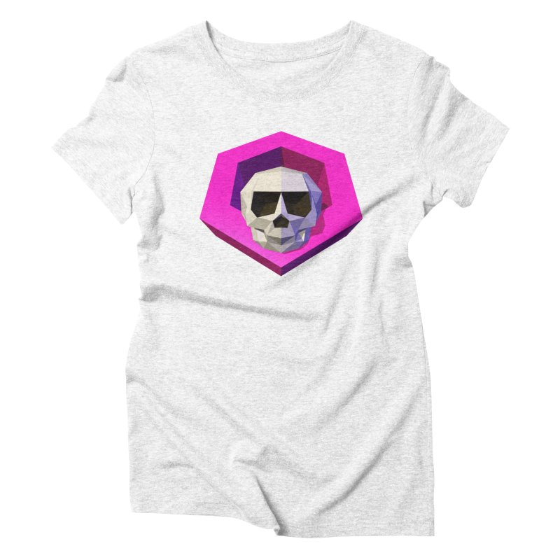 Tiltagon low-poly skull Women's Triblend T-shirt by Kiemura Merchandise
