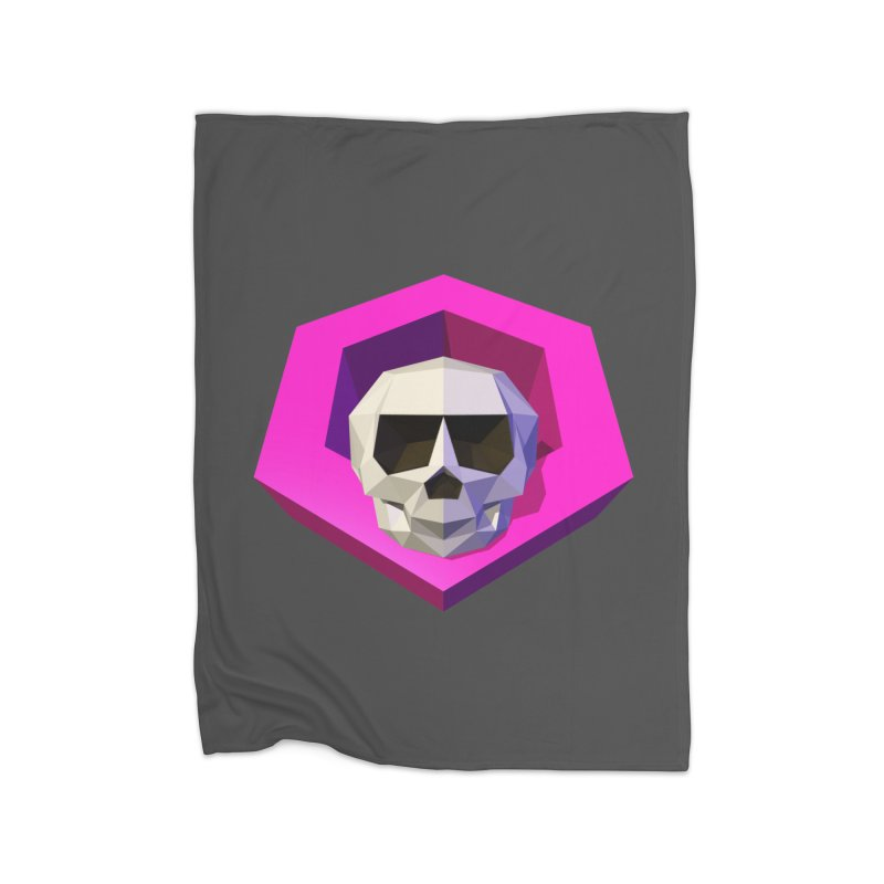 Tiltagon low-poly skull Home Blanket by Kiemura Merchandise
