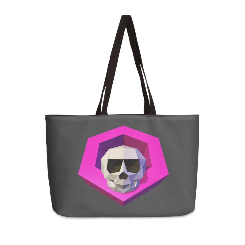 Tiltagon low-poly skull Accessories Weekender Bag Bag by Kiemura Merchandise