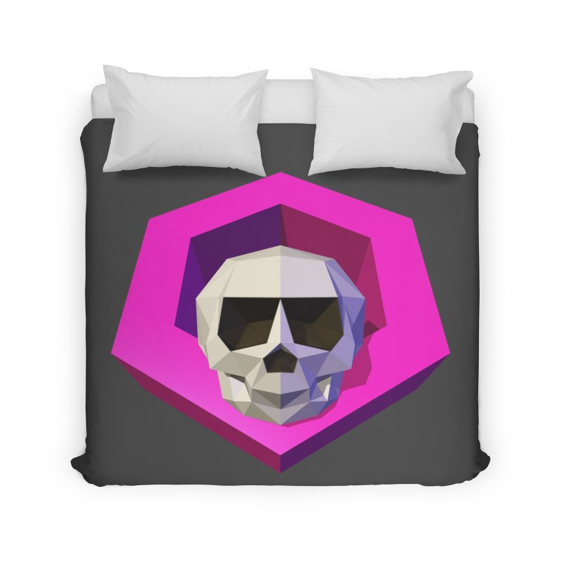 Tiltagon low-poly skull Home Duvet by Kiemura Merchandise