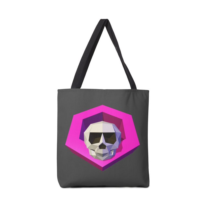 Tiltagon low-poly skull Accessories Bag by Kiemura Merchandise