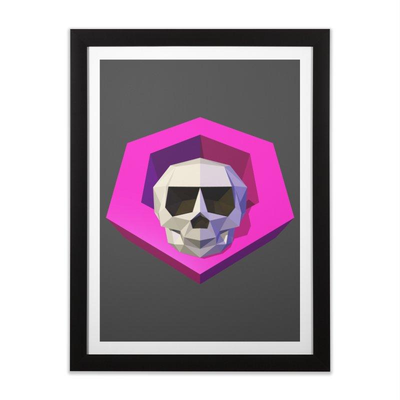 Tiltagon low-poly skull Home Framed Fine Art Print by Kiemura Merchandise