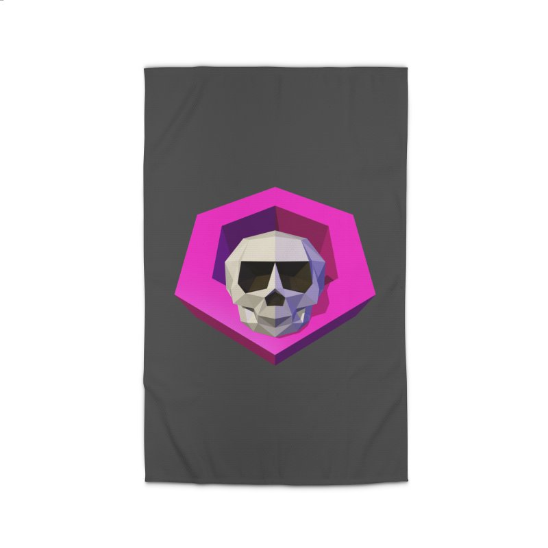 Tiltagon low-poly skull Home Rug by Kiemura Merchandise