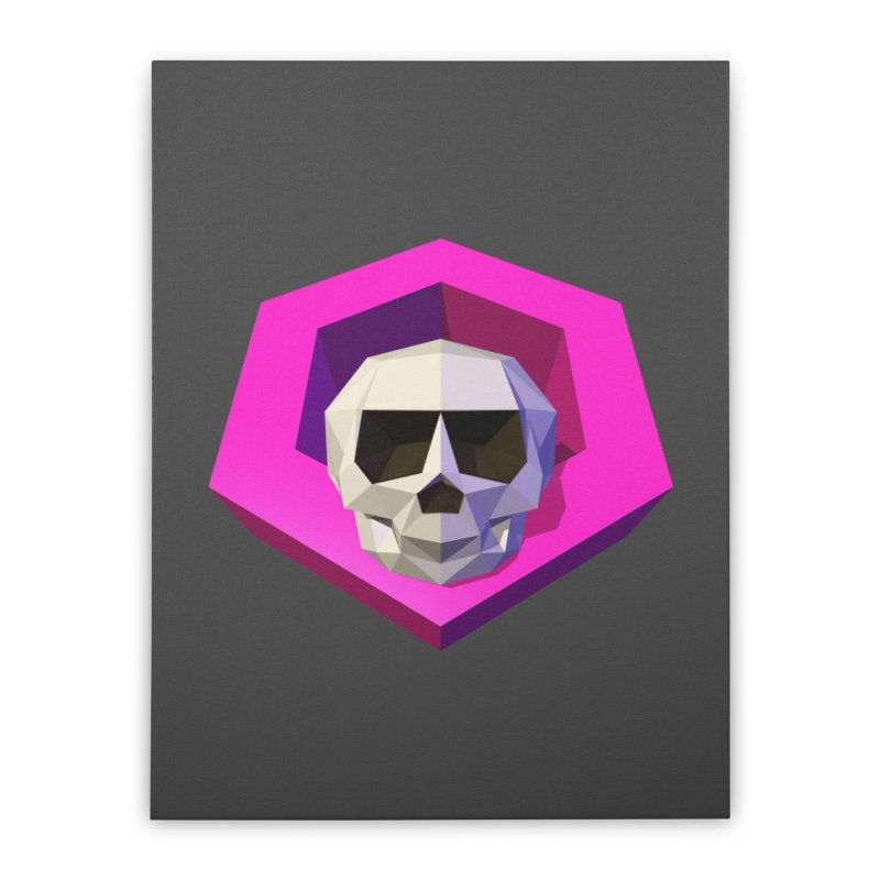 Tiltagon low-poly skull Home Stretched Canvas by Kiemura Merchandise