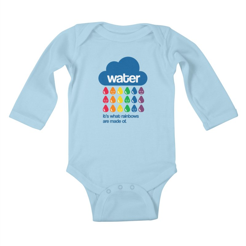 What Rainbows Are Made Of Kids Baby Longsleeve Bodysuit by Tees, prints, and more by Kiki B