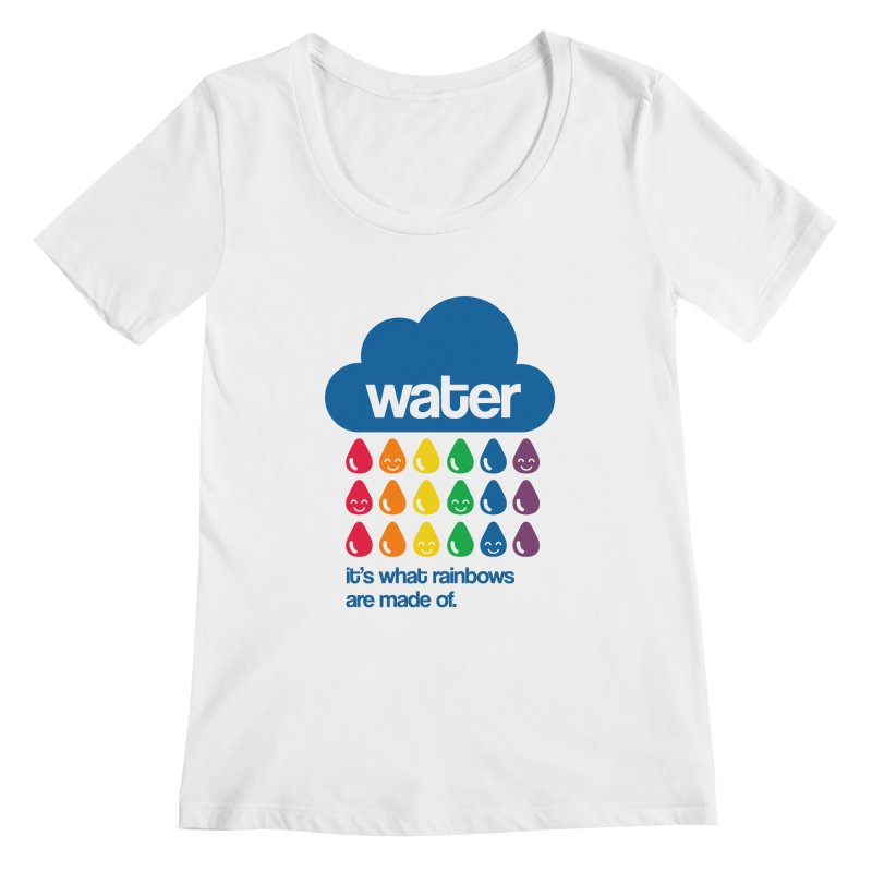 What Rainbows Are Made Of Women's Scoopneck by Tees, prints, and more by Kiki B