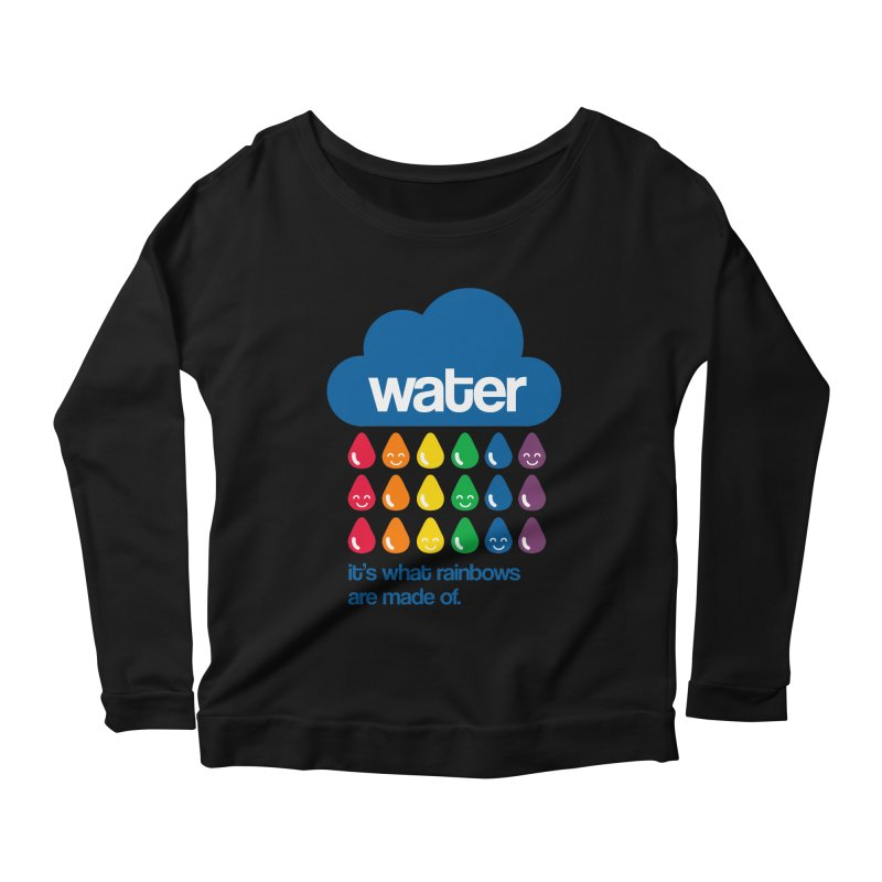 What Rainbows Are Made Of Women's Longsleeve Scoopneck  by Tees, prints, and more by Kiki B