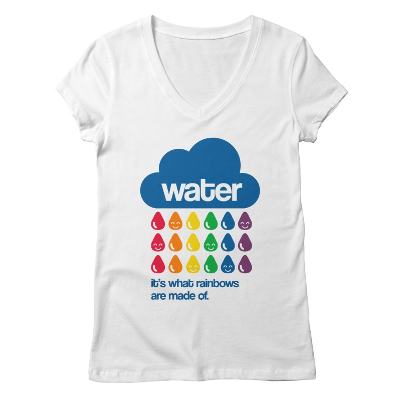 What Rainbows Are Made Of Women's Regular V-Neck by Tees, prints, and more by Kiki B