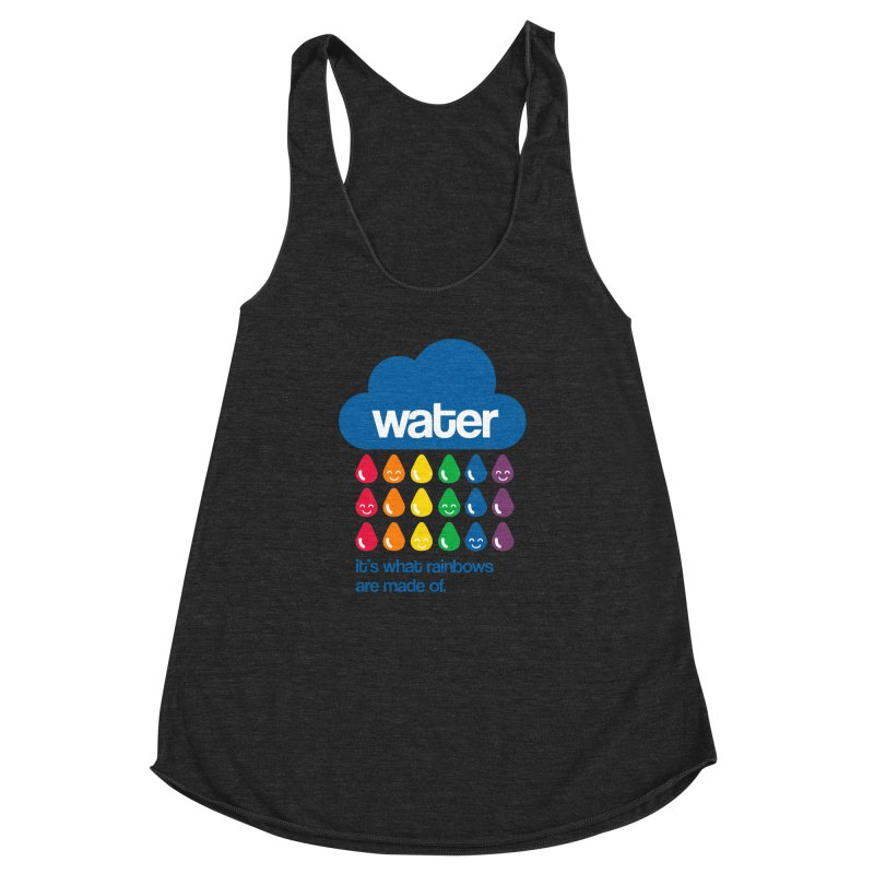 What Rainbows Are Made Of Women's Racerback Triblend Tank by Tees, prints, and more by Kiki B