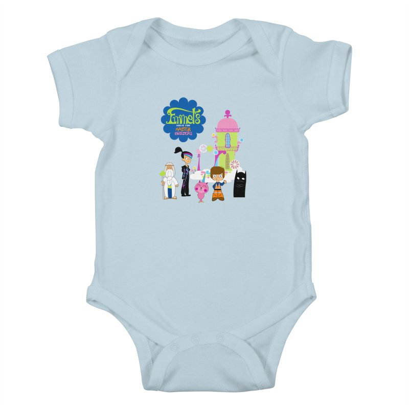 Emmet's Home For Master Builders Kids Baby Bodysuit by Tees, prints, and more by Kiki B