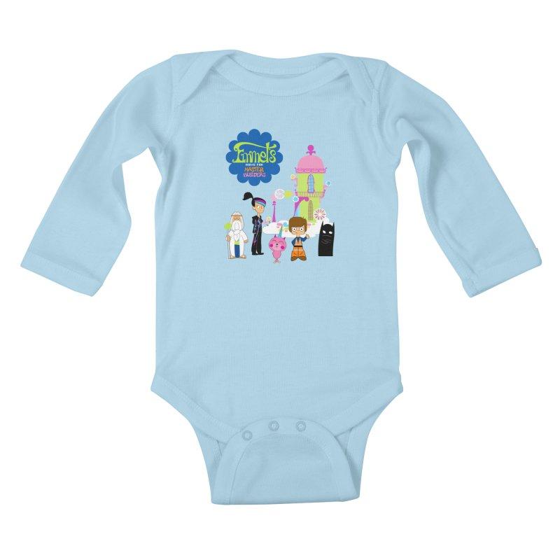 Emmet's Home For Master Builders Kids Baby Longsleeve Bodysuit by Tees, prints, and more by Kiki B