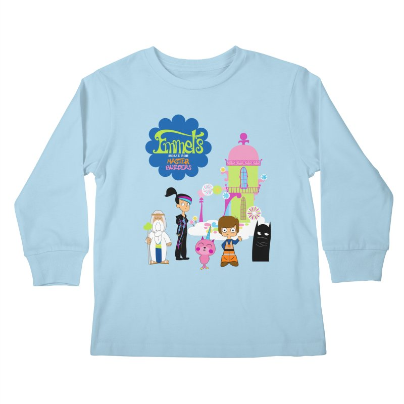 Emmet's Home For Master Builders Kids Longsleeve T-Shirt by Tees, prints, and more by Kiki B