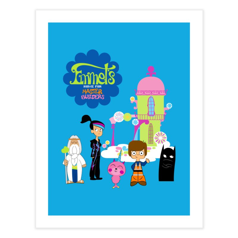 Emmet's Home For Master Builders Home Fine Art Print by Tees, prints, and more by Kiki B