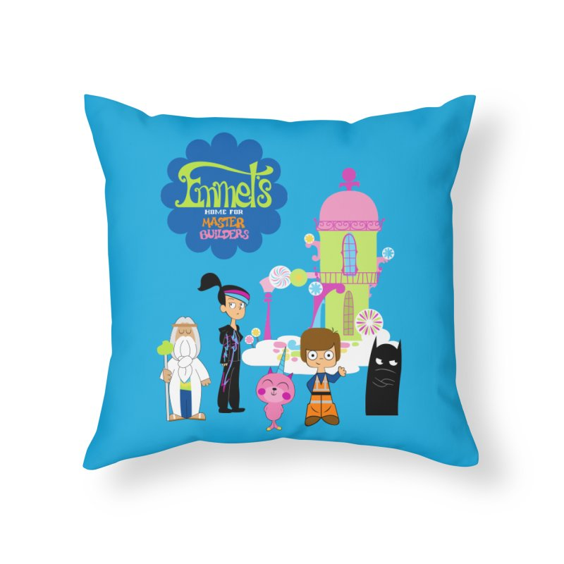 Emmet's Home For Master Builders Home Throw Pillow by Tees, prints, and more by Kiki B