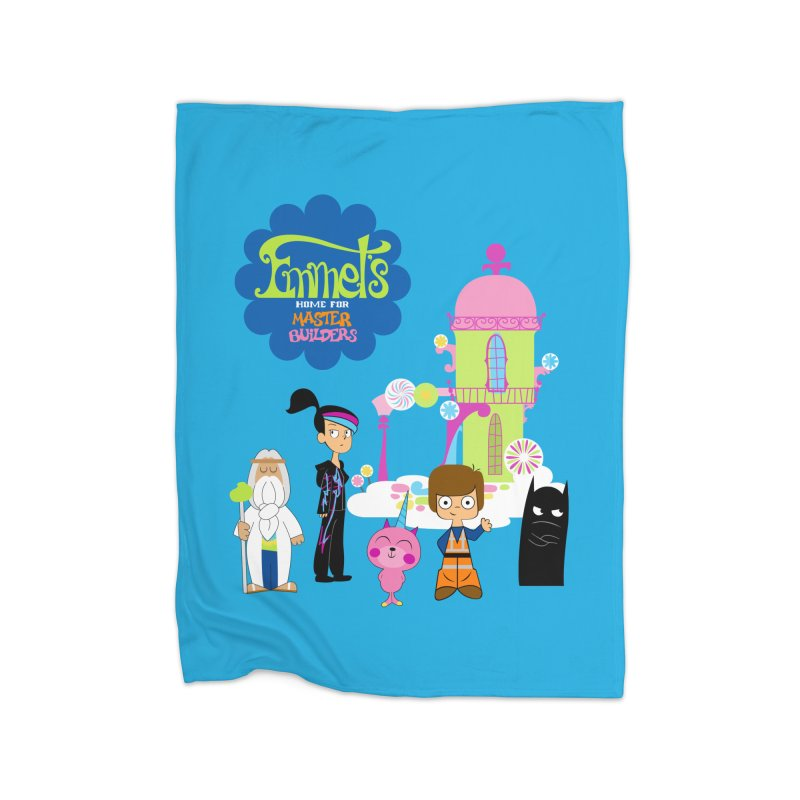 Emmet's Home For Master Builders Home Blanket by Tees, prints, and more by Kiki B