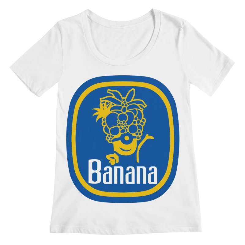 Banana! Women's Regular Scoop Neck by Tees, prints, and more by Kiki B