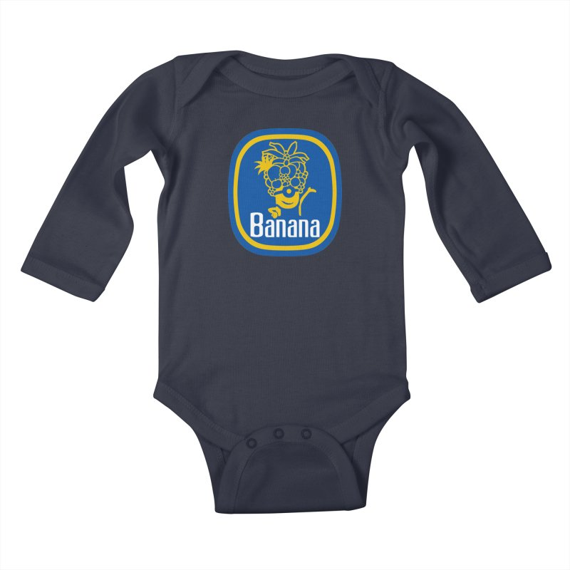 Banana! Kids Baby Longsleeve Bodysuit by Tees, prints, and more by Kiki B
