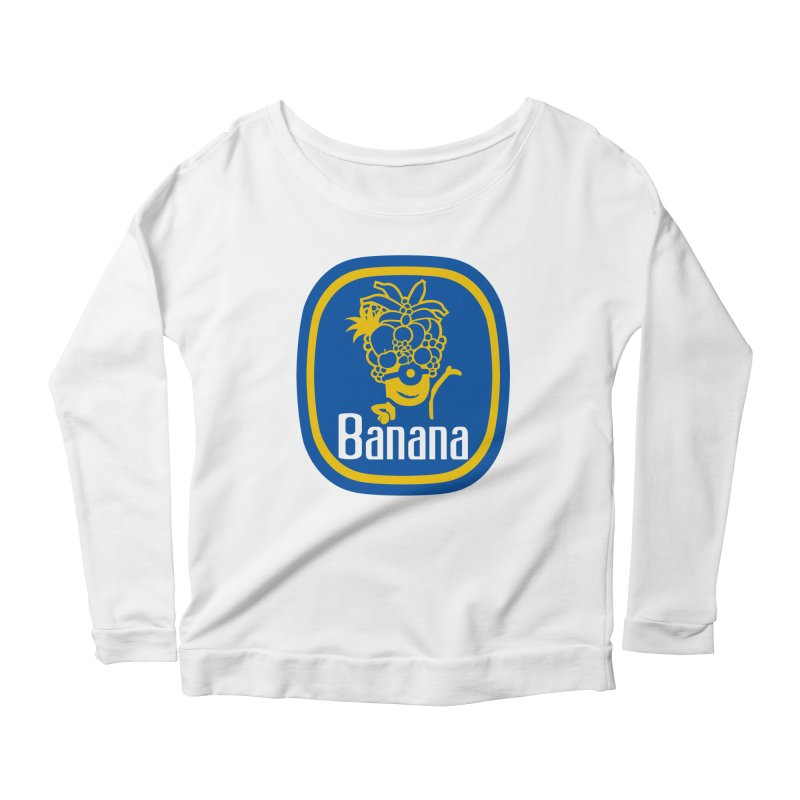 Banana! Women's Longsleeve Scoopneck  by Tees, prints, and more by Kiki B