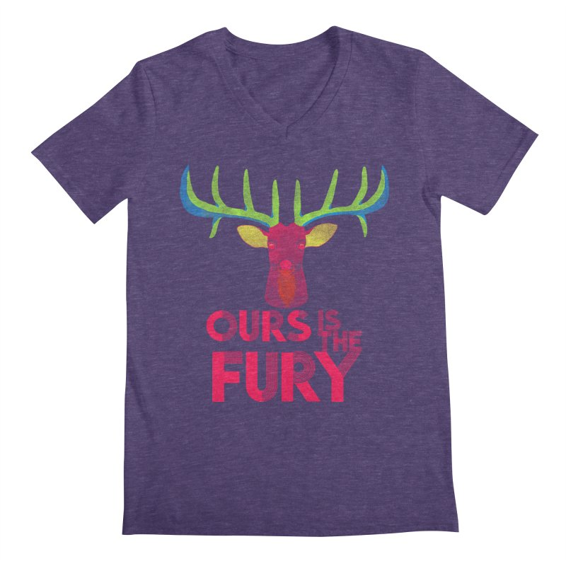 Ours Is The Fury Men's V-Neck by Tees, prints, and more by Kiki B