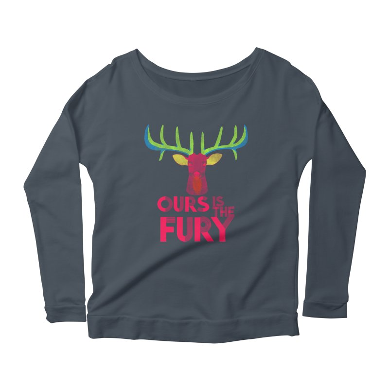 Ours Is The Fury Women's Longsleeve Scoopneck  by Tees, prints, and more by Kiki B