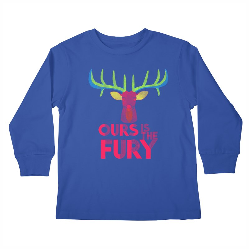 Ours Is The Fury Kids Longsleeve T-Shirt by Tees, prints, and more by Kiki B