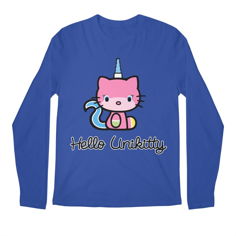 Hello Unikitty Men's Regular Longsleeve T-Shirt by Tees, prints, and more by Kiki B