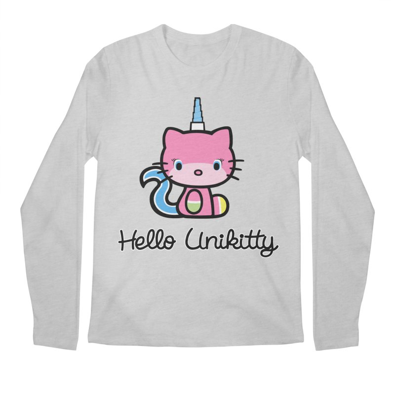 Hello Unikitty Men's Longsleeve T-Shirt by Tees, prints, and more by Kiki B