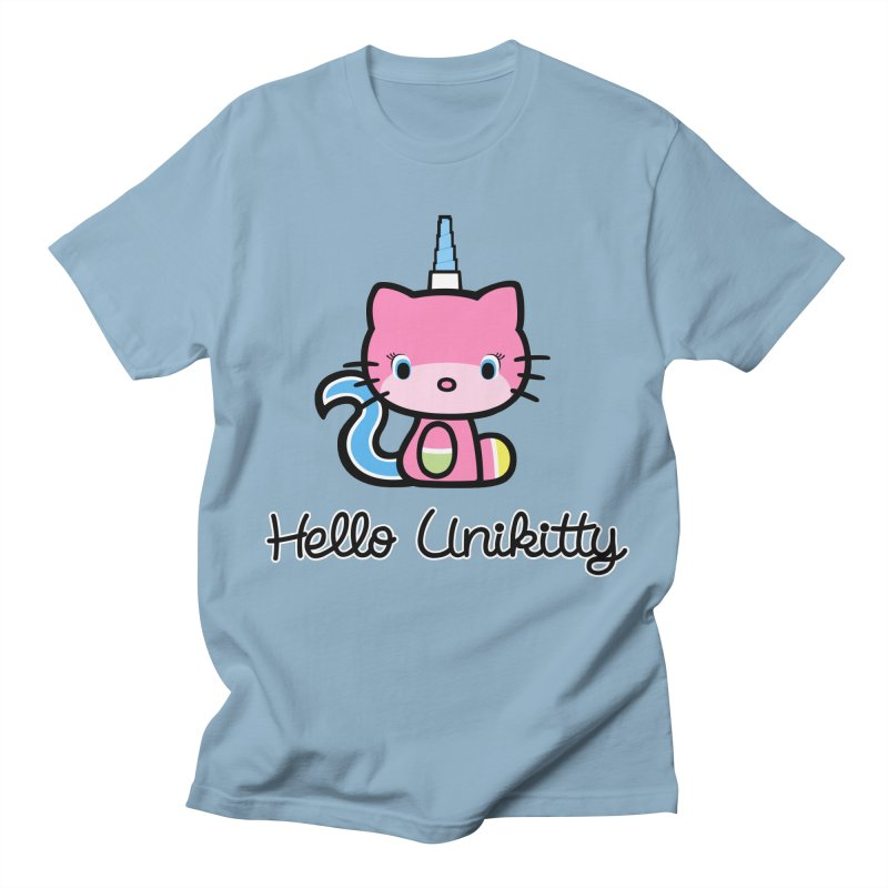 Hello Unikitty Men's T-shirt by Tees, prints, and more by Kiki B