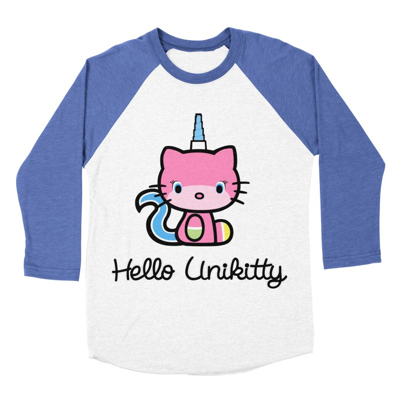 Hello Unikitty Men's Baseball Triblend T-Shirt by Tees, prints, and more by Kiki B
