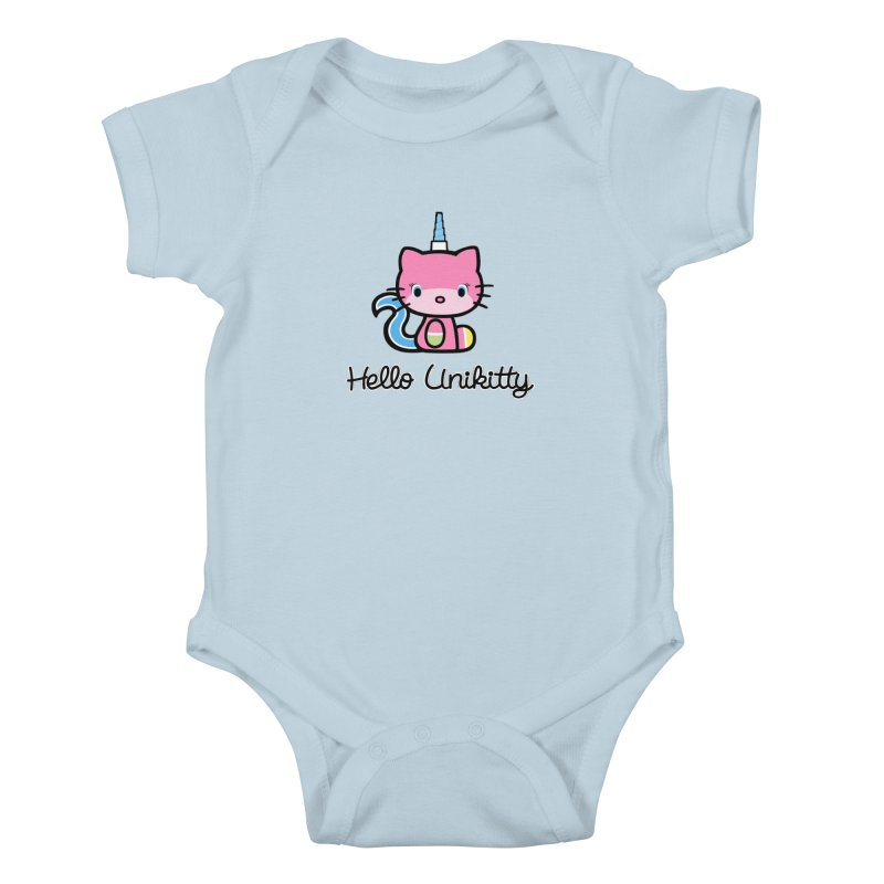 Hello Unikitty Kids Baby Bodysuit by Tees, prints, and more by Kiki B
