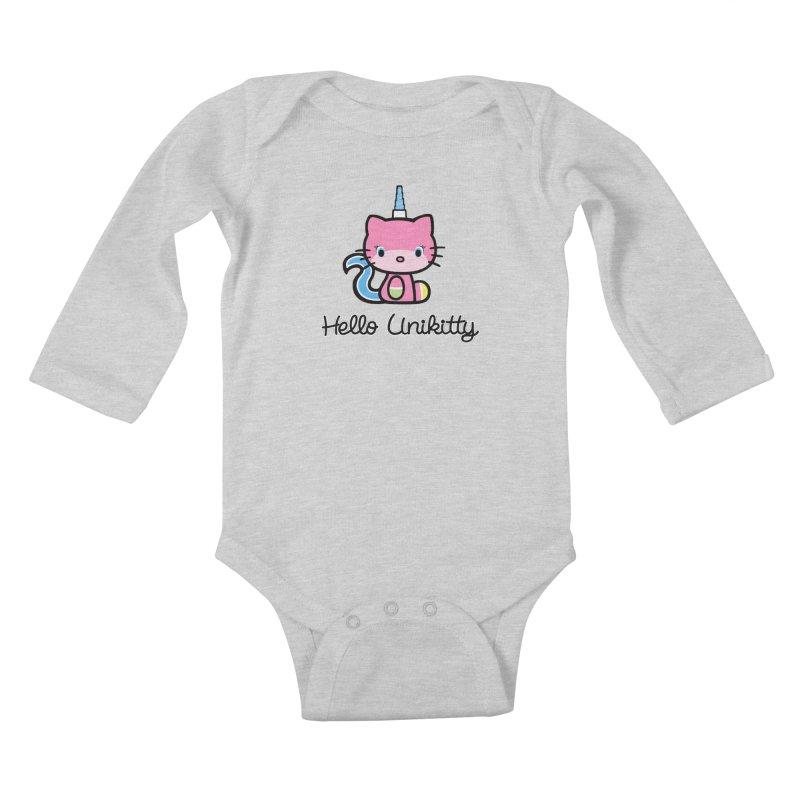 Hello Unikitty Kids Baby Longsleeve Bodysuit by Tees, prints, and more by Kiki B