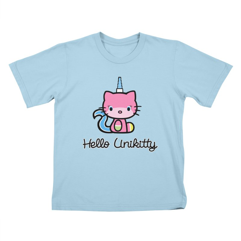 Hello Unikitty Kids T-shirt by Tees, prints, and more by Kiki B