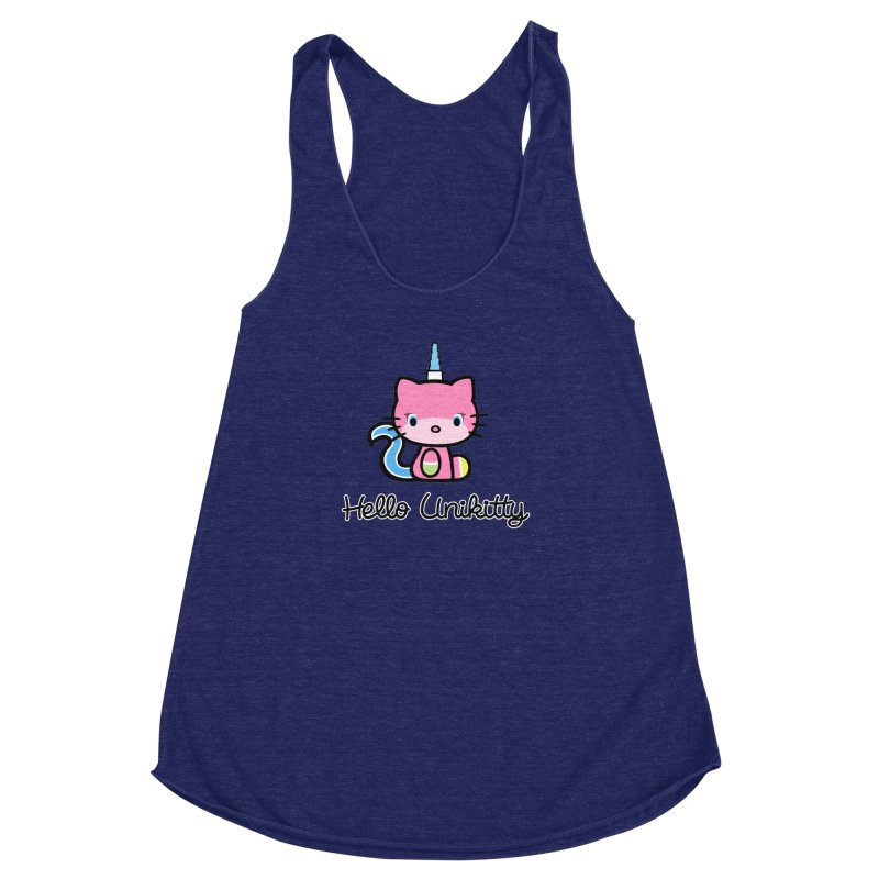 Hello Unikitty Women's Racerback Triblend Tank by Tees, prints, and more by Kiki B