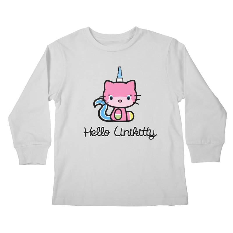 Hello Unikitty Kids Longsleeve T-Shirt by Tees, prints, and more by Kiki B