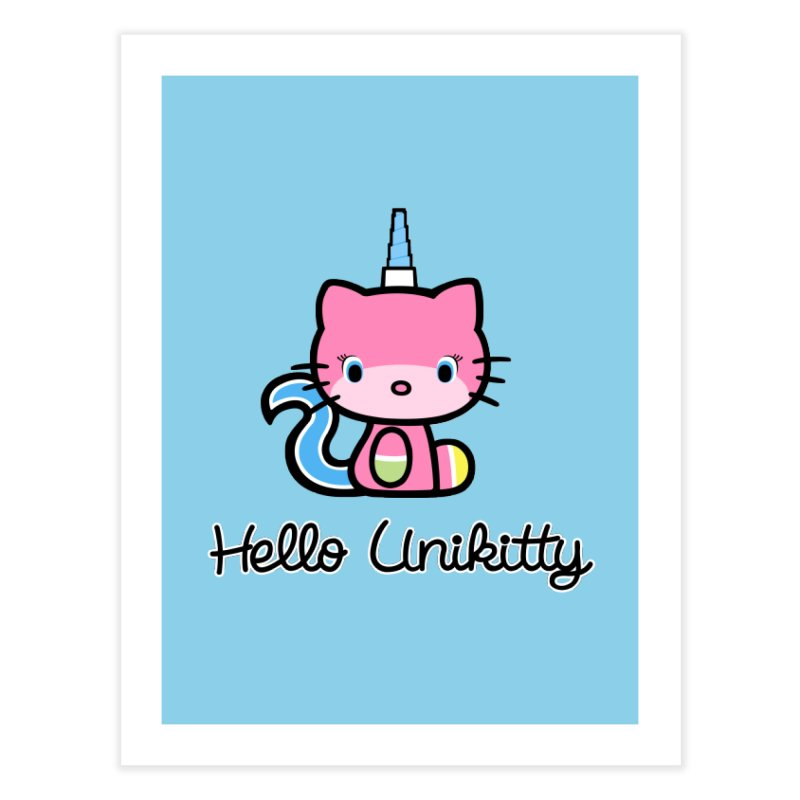 Hello Unikitty Home Fine Art Print by Tees, prints, and more by Kiki B
