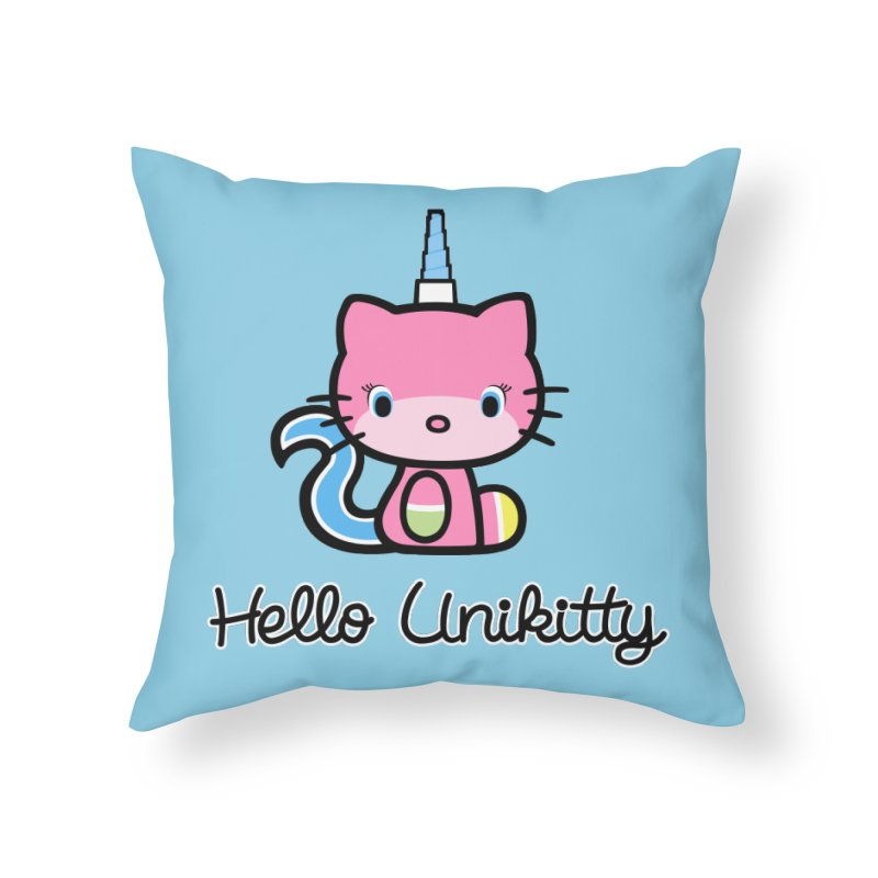 Hello Unikitty Home Throw Pillow by Tees, prints, and more by Kiki B
