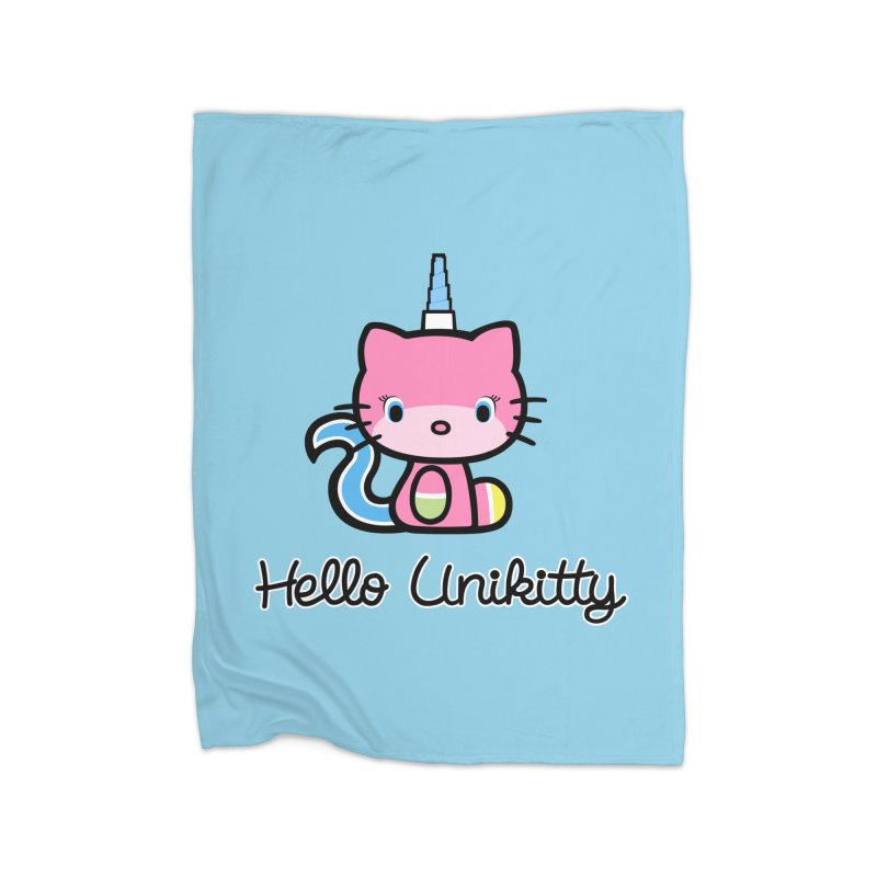 Hello Unikitty Home Blanket by Tees, prints, and more by Kiki B