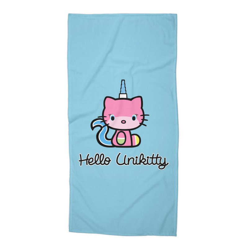 Hello Unikitty Accessories Beach Towel by Tees, prints, and more by Kiki B