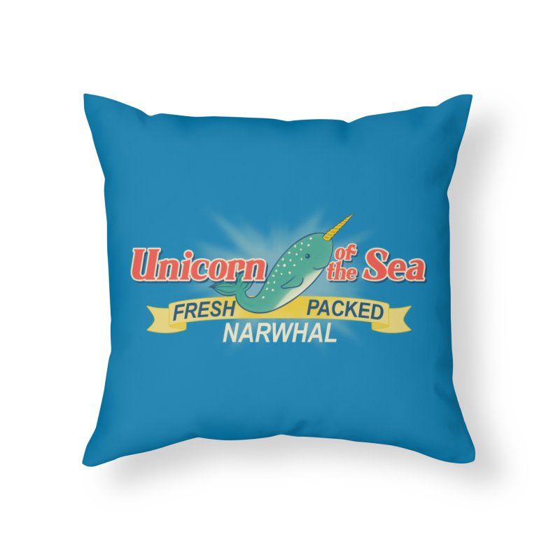 Unicorn of the Sea Home Throw Pillow by Tees, prints, and more by Kiki B