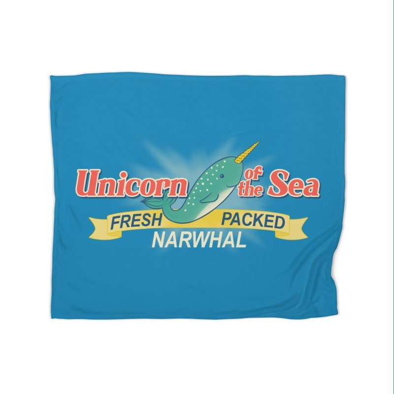 Unicorn of the Sea Home Blanket by Tees, prints, and more by Kiki B