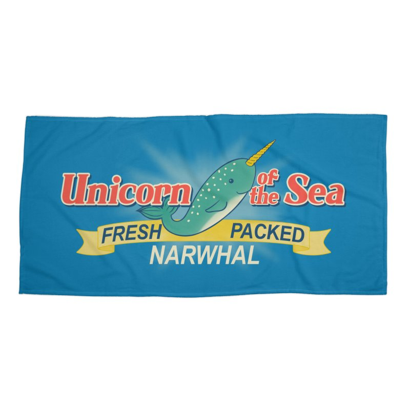 Unicorn of the Sea Accessories Beach Towel by Tees, prints, and more by Kiki B