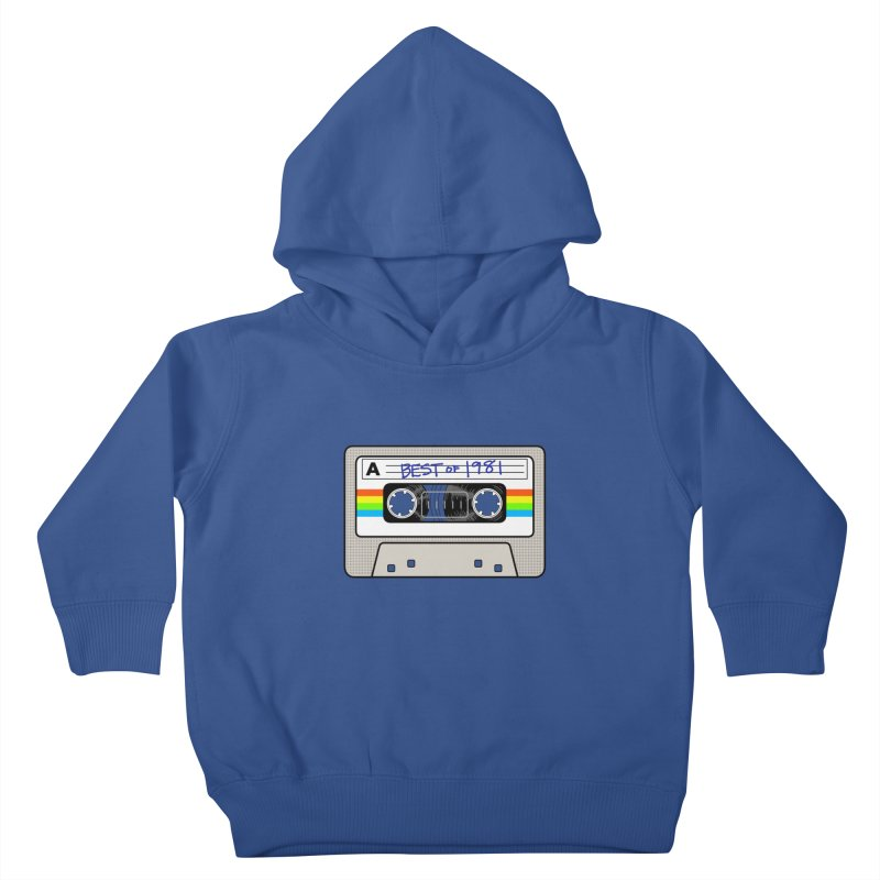 Mixtape: Best of 1981 Kids Toddler Pullover Hoody by Tees, prints, and more by Kiki B