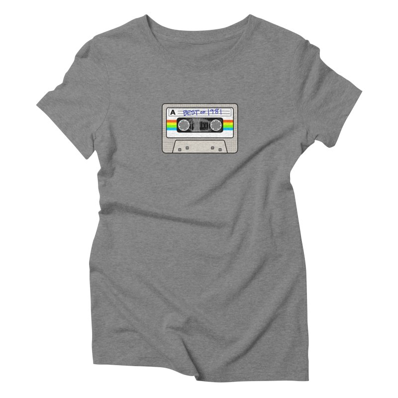 Mixtape: Best of 1981 Women's Triblend T-Shirt by Tees, prints, and more by Kiki B